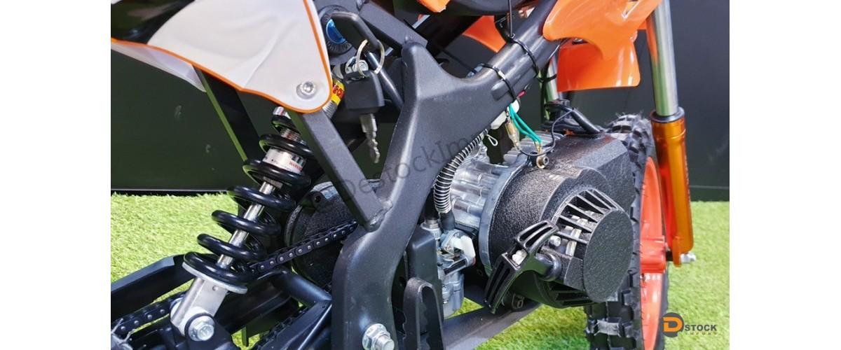 MOTO POCKET DIRT BIKE ORION 2 TEMPS 49 CC 10 POUCES