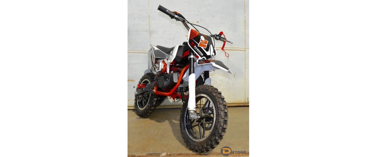 MOTO CROSS ENFANT DIRT POCKET BIKE 2 TEMPS 49CC 10 POUCES